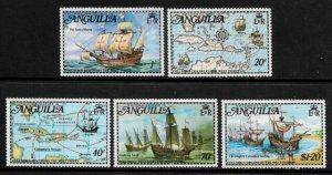 Anguilla #174-8 MNH Set - West Indies Ships