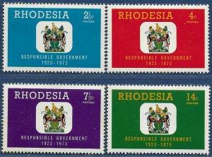 Rhodesia sg 484-7 MNH 1973 set of 4 Responsible Government