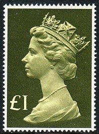 GB QE Queen Elizabeth Machins £1 Sc# MH169 CV $2.75