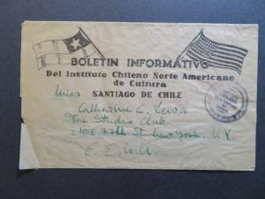 Chile Early 1900s Commercial Cover to USA - Z7825