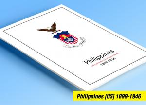 COLOR PRINTED PHILIPPINES [US+JP] 1898-1946 STAMP ALBUM PAGES (60 illust. pages)