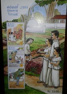 O) 2017 SRI LANKA, VESAK - RELIGION - BUDDHA - DHAMMA PREACHING - OFFERING OF AL