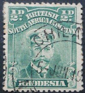 Rhodesia Admiral HalfPenny with CHILANGA (DC) postmark