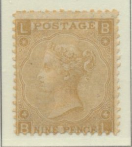 Great Britain Stamp Scott #46 Plate #4, Mint Hinged, Original Gum - Free U.S....