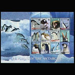 BR.ANTARCTIC TERR. 2008 - Scott# C4 Sheet-Penguin NH