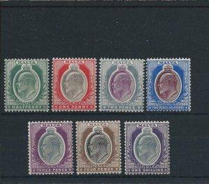 MALTA 1903-04 SET OF SEVEN MM SG 38/44 CAT £130