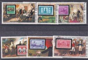 Burkina Faso # 352-358, U.S. Bicentennial, Stamp on Stamp, Used CTO, 1/2 Cat.