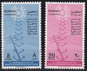 Kuwait 173-174 MNH (1962)