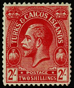 Turks & Caicos Islands Scott 56 (1925) Mint H F-VF, CV $35.00 M