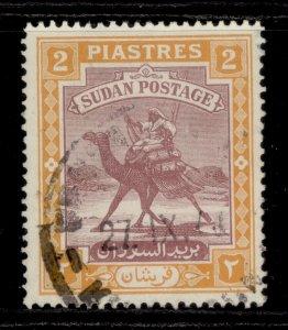 SUDAN GVI SG103, 2p purple & orange-yellow, FINE USED.