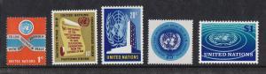 UN - NY # 146-150, Definitives , Mint NH, 1/2 Cat.
