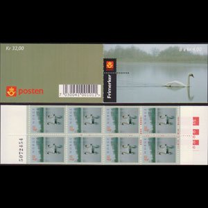 NORWAY 1999 - Scott# 1219A Booklet-Swans NH