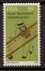 SOUTH AFRICA SG398 1976 WORLD BOWLS CHAMPIONSHIPS MNH