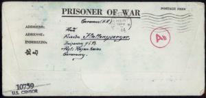 USA Camp Mclean Texas WWII Germany POW Kriegsgefangenen Kgf 81605