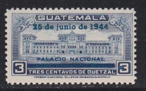 Guatamala # 311, National Palace Overprinted, NH