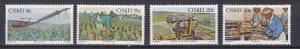 South Africa - Ciskei # 38-41, Pineapple Industry, NH, 1/2 Cat.