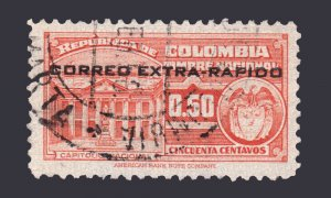 COLOMBIA 1953 SCOTT # C234. USED