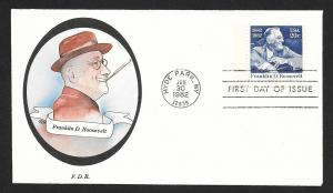 UNITED STATES FDC 20¢ Roosevelt 1982 New Direxions