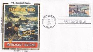 2011, US Merchant Marines, Colorano Silk, FDC (E11947)