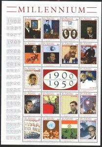 Saint Vincent and the Grenadines. 2000. ml 4830-47. Millennium, Lenin, Stalin...