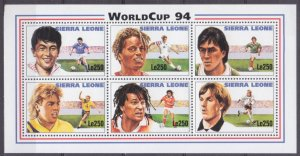 1994 Sierra Leone 2150-2155KL 1994 FIFA World Cup in USA 8,50 €