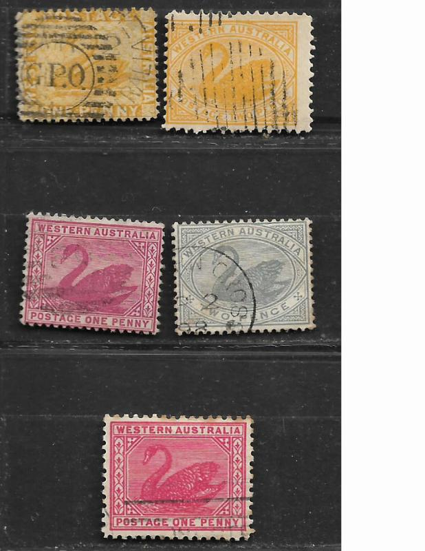 COLLECTION LOT OF 10 WESTERN AUSTRALIA STAMPS CLEARANCE UNCHECKED 2 SCAN
