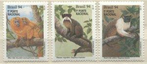 Brazil 1994 monkeys animals set MNH