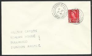 GB SCOTLAND 1971 cover EASDALE / OBAN ARGYLL cds..........................55784*