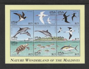 BIRDS - MALDIVES #2388   BIRDS & MARINE LIFE  MNH