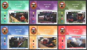 Isle Of Man. 2010. 1627-32, bl 73. Railway transport. MNH.