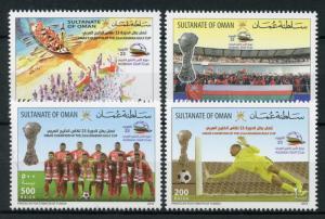 Oman 2018 MNH Champion Arabian Gulf Cup Football 4v Set Soccer Sports Stamps