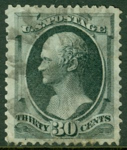 EDW1949SELL : USA 1870 Sc #143 VF Used. Choice & Very Rare. PSAG Cert. Cat $4000