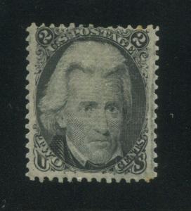 1867 United States Postage Stamp #84 Mint Hinged F/VF Original Gum