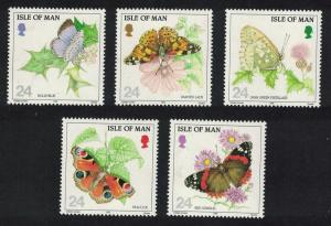 Isle of Man Butterflies 5v SG#573-577