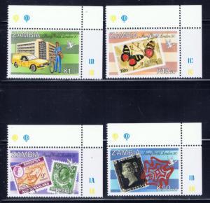 Zambia 486-89 MNH 1990 London Expo