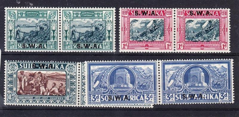 South West Africa Scott B5-B8 Mint hinged (Catalog Value $122.50)