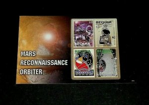 TOPICAL, 2006, SPACE, BEQUIA, MARS ORBITER, SHEET/4, LOT #12, MNH, LQQK
