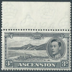 H446) Ascension Island. 1938/53. MM. SG 42a 3d Black & grey. cv£20+.
