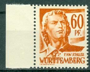 Germany - French Occupation - Wurttemberg - Scott 8N10