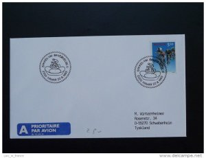 bicycle cycling world cup postmark on cover Norway 22/08/1993