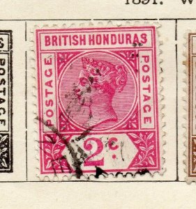 British Honduras 1888 Early Issue Fine Used 2c. NW-113784