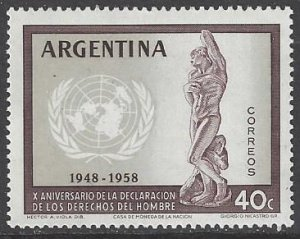 Argentina 679 MNH 10th Anniversary of Declaration of Human Rights 1959