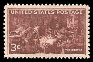 PCBstamps   US # 949 3c Doctors, 1947, MNH, (1)