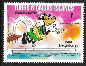 Turks & Caicos Islands #620 1c Disney Olympic Sports- Spring DivingMHR