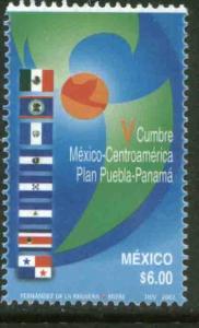 MEXICO 2286, Mexico-Central American Summit Puebla-Panama. MINT, NH. F-VF.