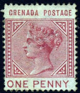 GRENADA Queen Victoria 1883 One Penny Carmine INVERTED WATERMARK SG 31 MINT