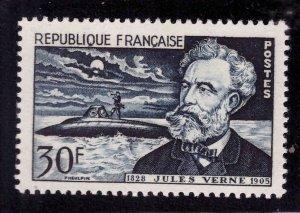 France Scott 770 MH* Jules Verne submarine stamp