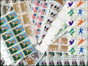 Postage 750 13¢ Stamps All Mint Full Gum Never Hinged Face $97.50
