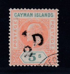 Cayman Islands, SG 18 var, used Slotted Frame variety, only 15 possible!