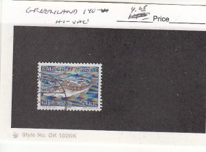 J25752  jlstamps 1981-6 greenland part of set used #140 all checked